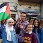 Solidarité avec la Palestine pour les 20km - Arthur