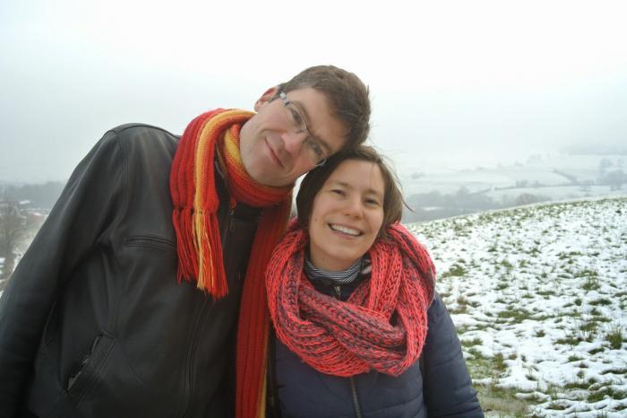 Julie et Pierre courent pour la santé.